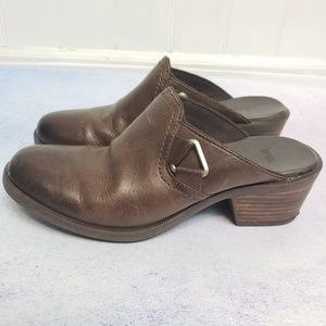 Teva Brown Leather Clogs Sz 8